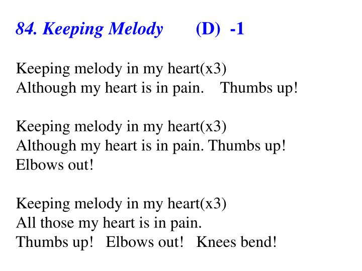 84. Keeping Melody