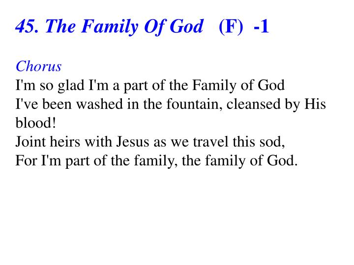 45. The Family Of God