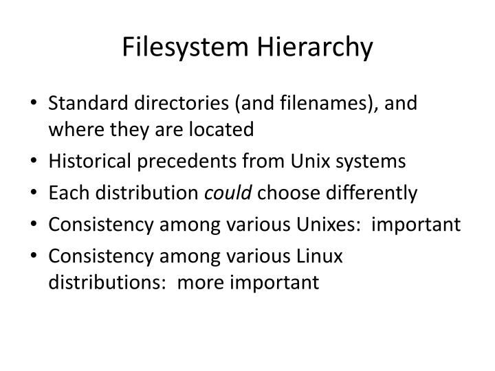 Filesystem Hierarchy