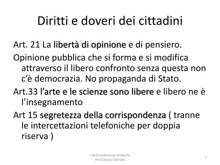 Diritti e doveri dei cittadini