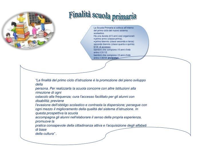 Finalità scuola primaria