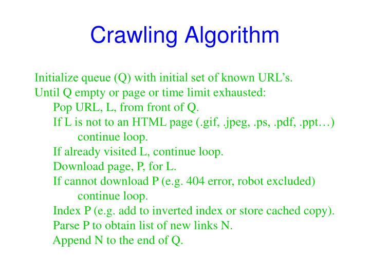 Crawling Algorithm