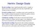 heritrix design goals
