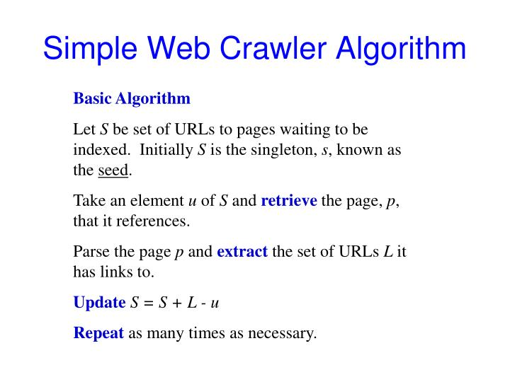 Simple Web Crawler Algorithm