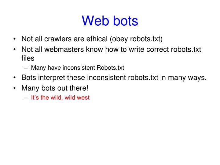 Web bots