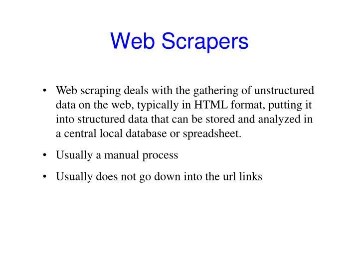 Web Scrapers