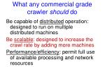 what any commercial grade crawler should do