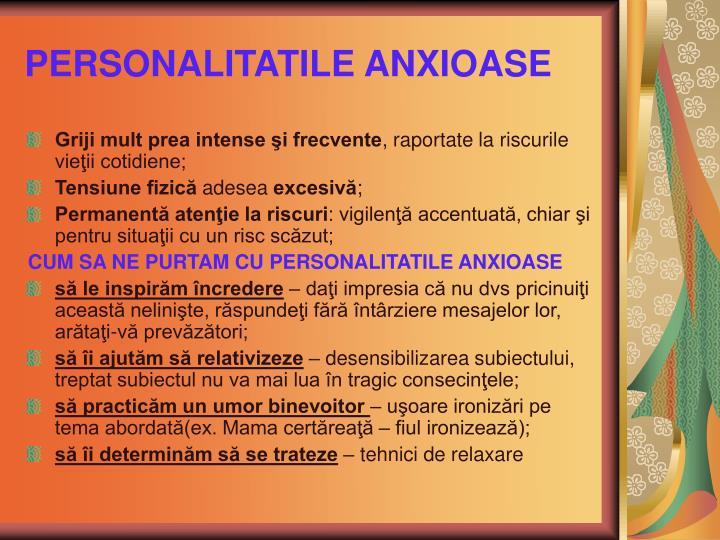 PERSONALITATILE ANXIOASE