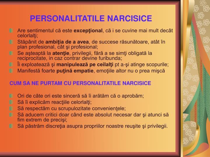 PERSONALITATILE NARCISICE
