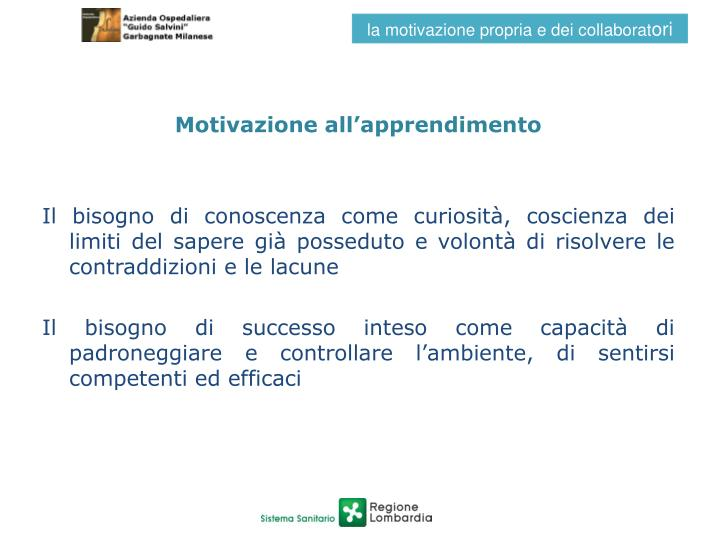 Motivazione all'apprendimento