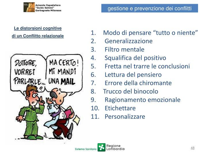 Le distorsioni cognitive