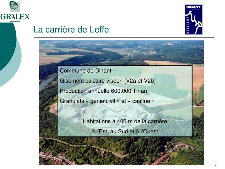 La carrière de Leffe