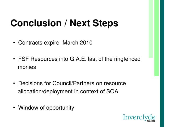 Conclusion / Next Steps