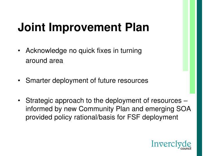 Joint Improvement Plan