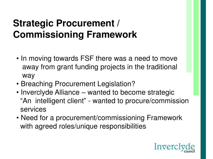 Strategic Procurement / Commissioning Framework
