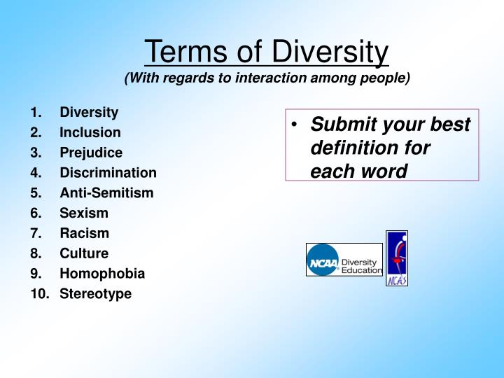 Terms of Diversity