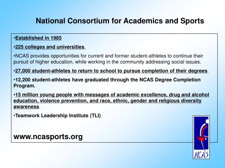 National Consortium for Academics and Sports