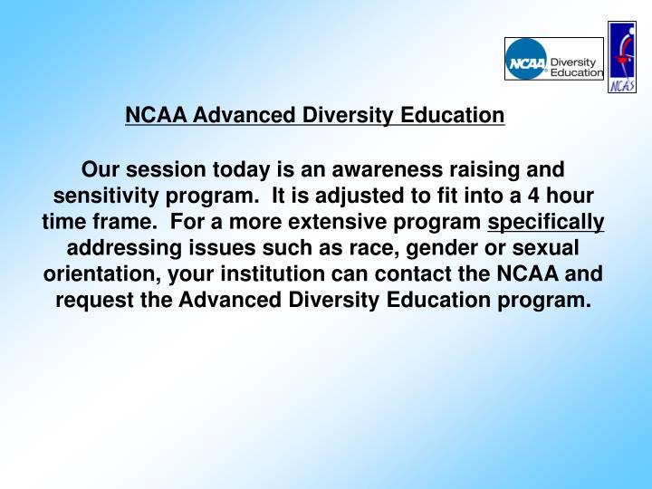 NCAA Advanced Diversity Education