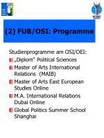 2 fub osi programme