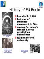 history of fu berlin