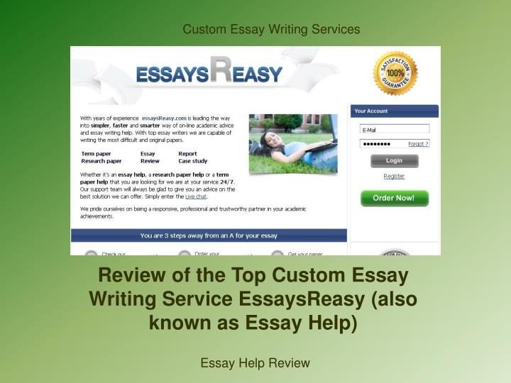top custom essay Order your essays from us and get the highest grades our writers always provide top-notch writecustomcom is a custom writing service that provides online.