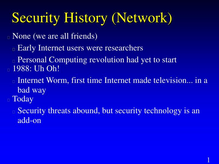 Security history network
