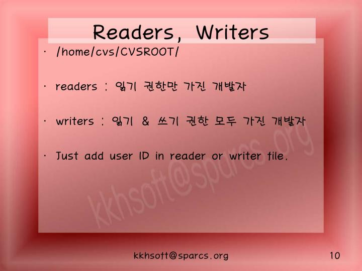Readers, Writers