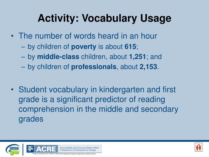 Activity: Vocabulary Usage