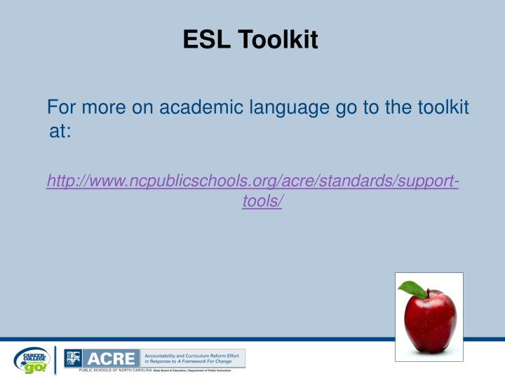 ESL Toolkit