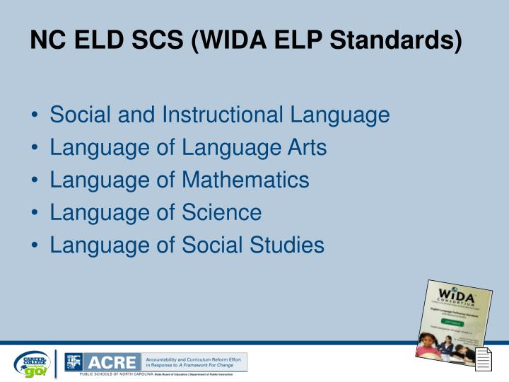 NC ELD SCS (WIDA ELP Standards)