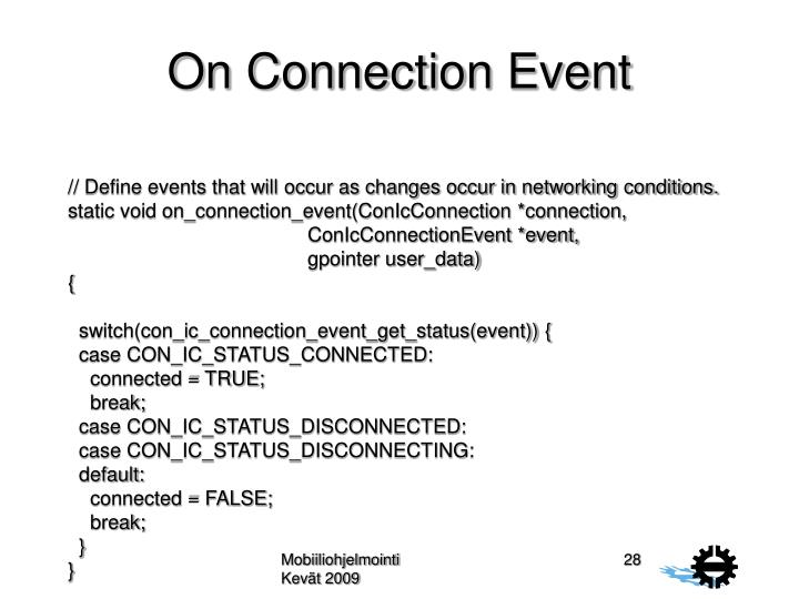 On Connection Event