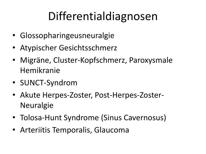 Differentialdiagnosen