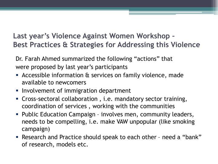 proposal violence against women