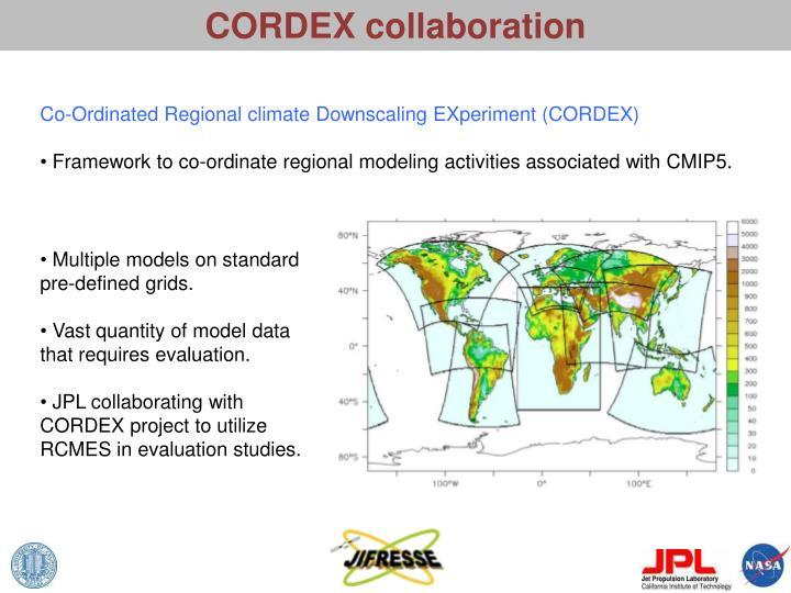 CORDEX collaboration