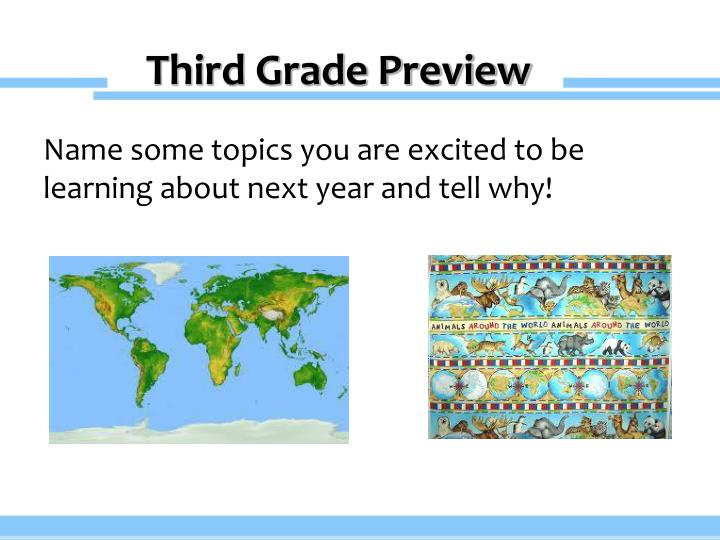 Third Grade Preview