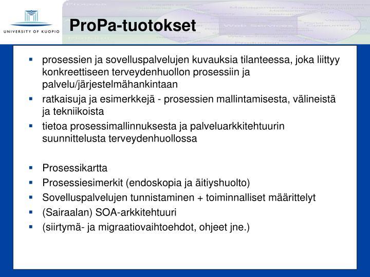 ProPa-tuotokset