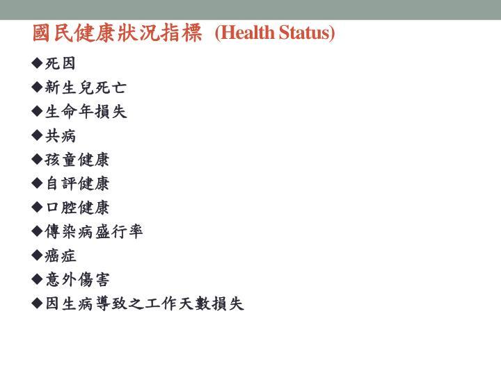 國民健康狀況指標