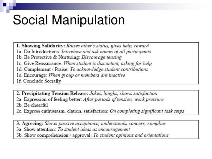 Social Manipulation