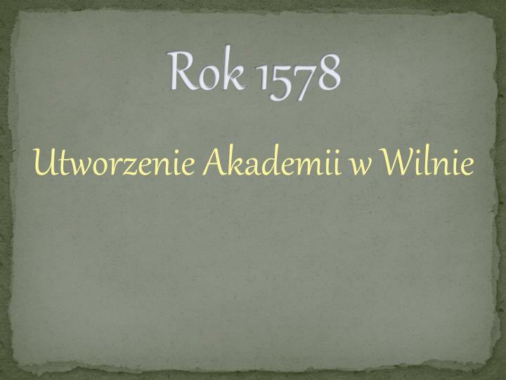 Rok 1578