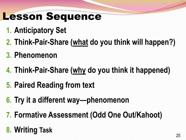 Lesson Sequence