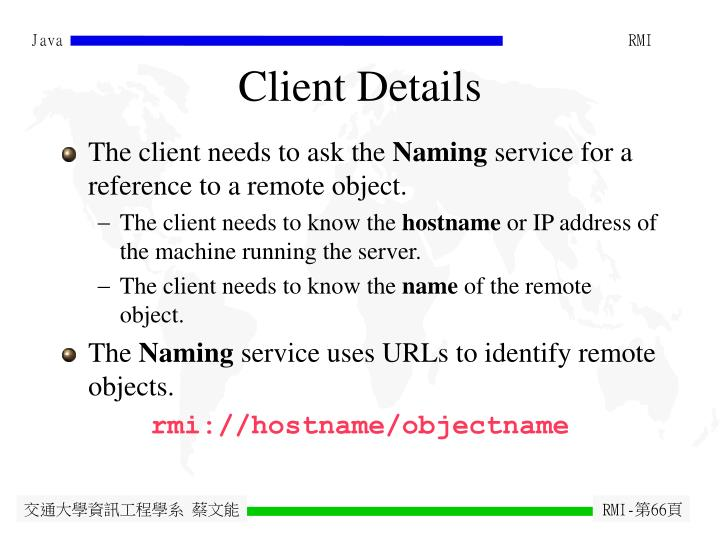 Client Details