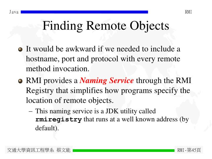 Finding Remote Objects