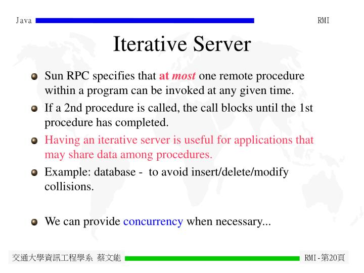 Iterative Server
