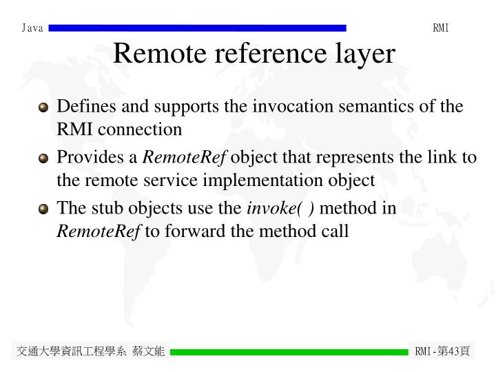 Remote reference layer