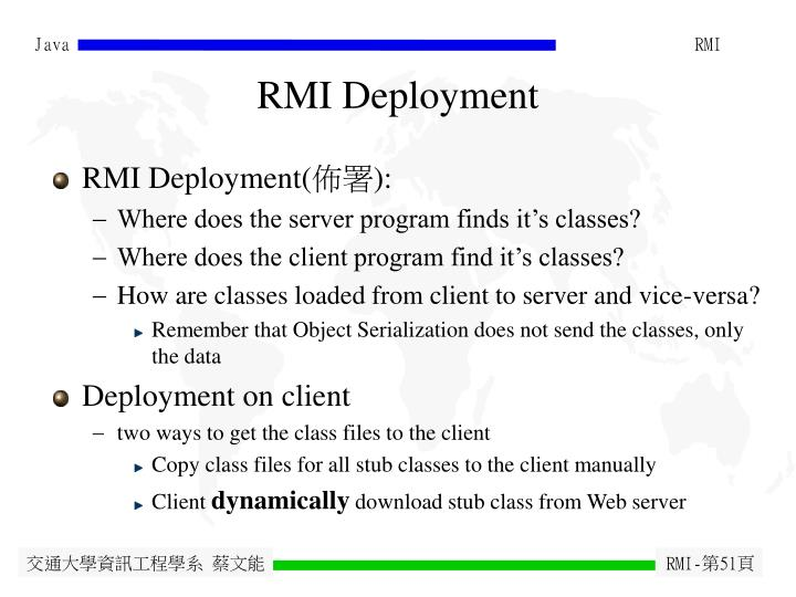 RMI Deployment