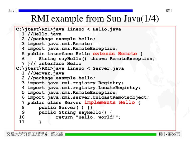 RMI example from Sun Java(1/4)