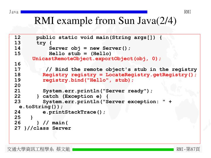 RMI example from Sun Java(2/4)
