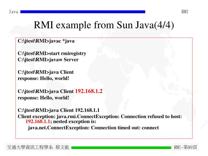 RMI example from Sun Java(4/4)