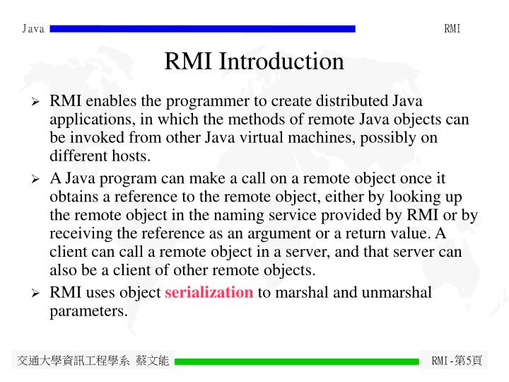 RMI Introduction