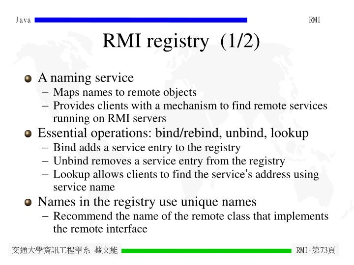 RMI registry  (1/2)